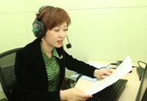 张晓蕾为视障人士录制心目图书